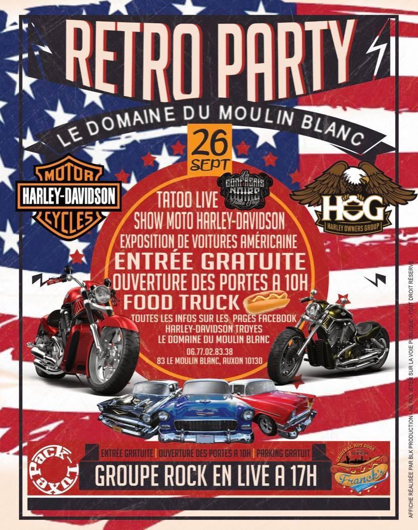 Reto party American car