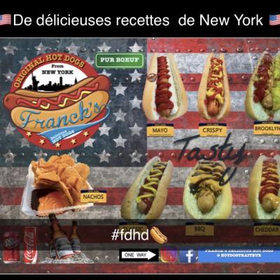 Une dizaine de recettes de hot dogs proposés